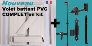 battant kit 300x150 Volet battant PVC en kit